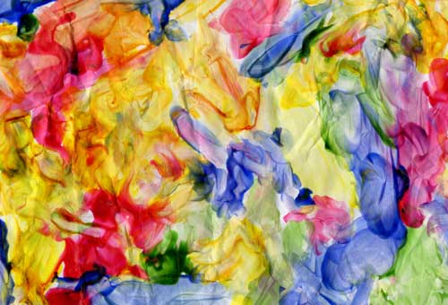 Finger Painting with a purpose