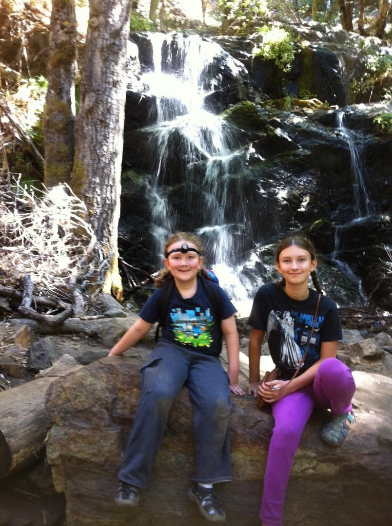 Beautiful waterfall near Crystal Cave
