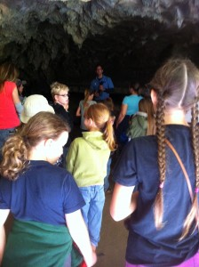 Getting ready to go into Crystal Cave