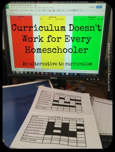 Curriculum doesn't work for every homeschooler, HomeschoolRealm.com