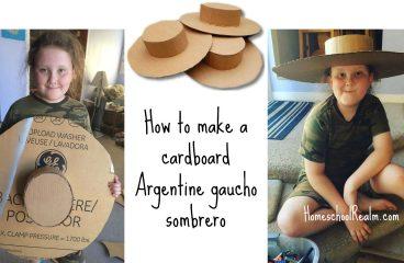 An Argentina craft tutorial: How to make a gaucho sombrero