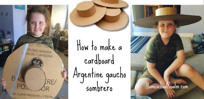 An Argentina Craft Tutorial How To Make A Gaucho Sombrero