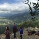 Panoramic view at the top of Skytrail