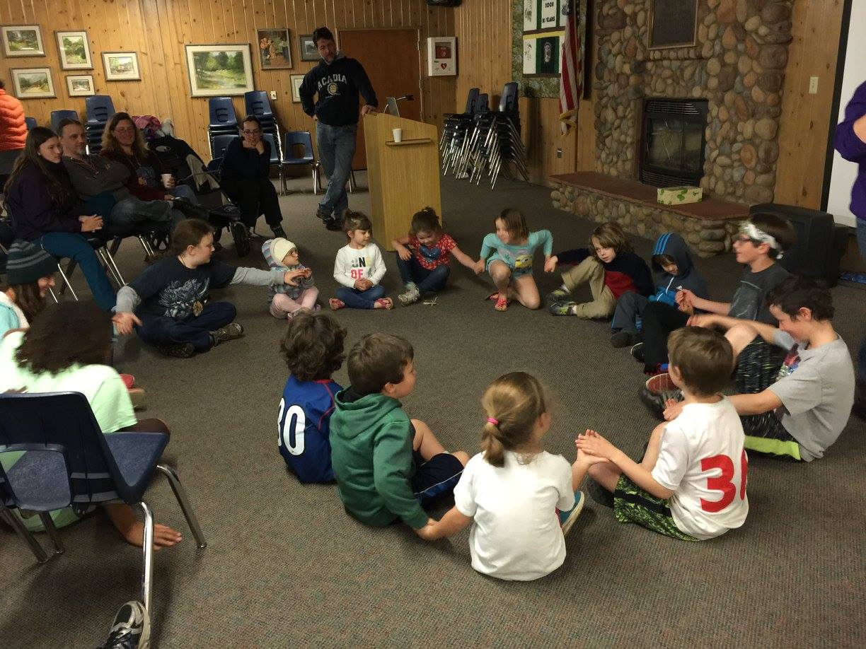 Group games during an indoor campfire - The Homeschool Realm