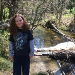 My son, along Bear Creek