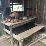 Inside the hermit's cabin