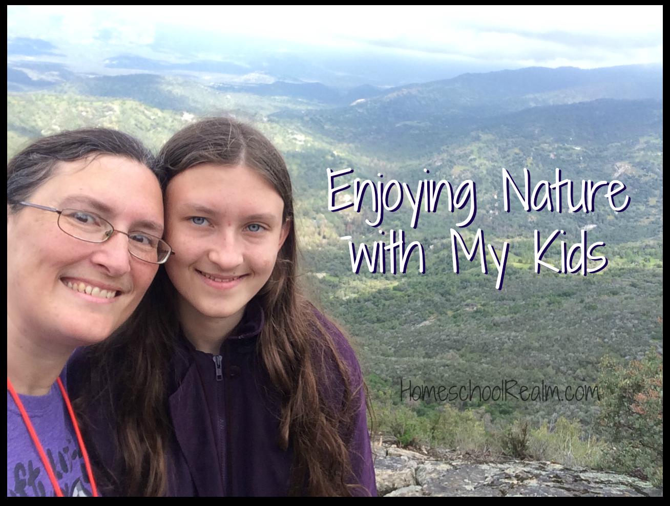 Enjoying nature with my kids