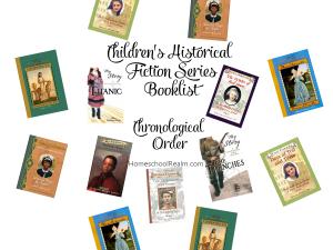 Children's Historical Fiction Series, Chronological Order